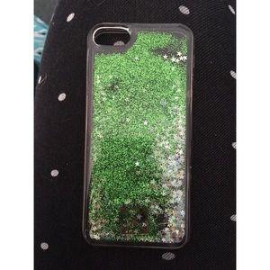 Accessories - iPhone SE/5s/5c Green Glitter Case